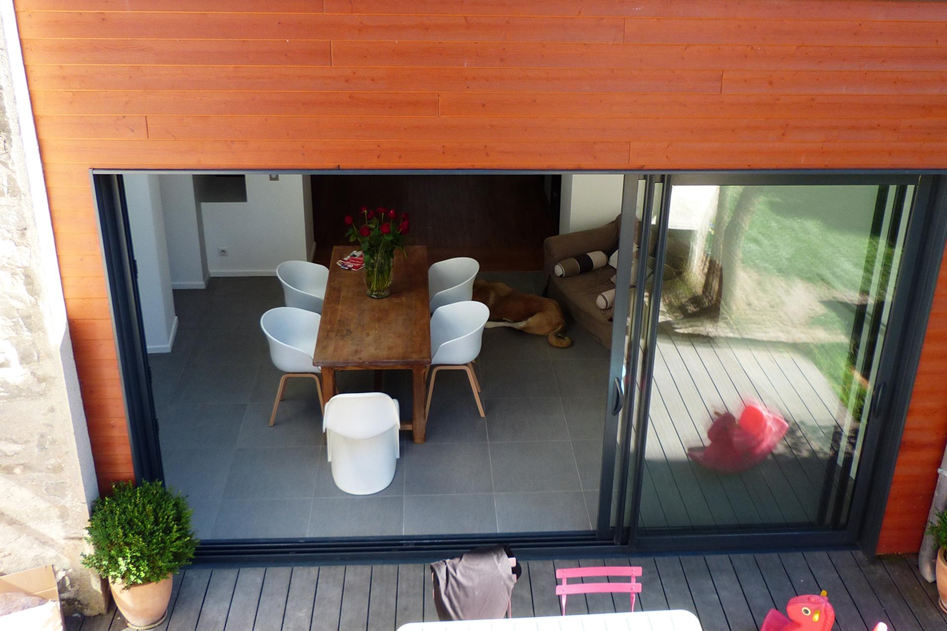 Extension complète ossature bois