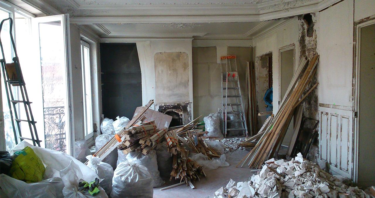 Appartement Picpus démolition totale hors porteurs